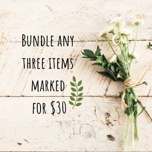 Bundle items with 🌿 symbol only! Thanks!!